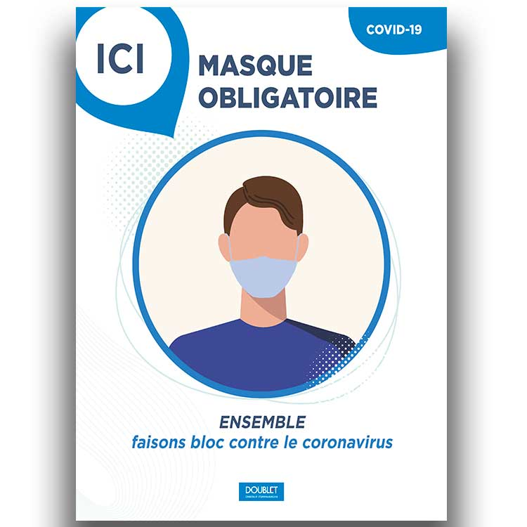 Panneau alvéolaire l. 118 x h. 78 cm - masque obligatoire