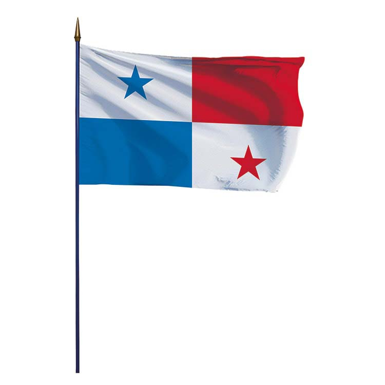 Drapeau Panama sur hampe