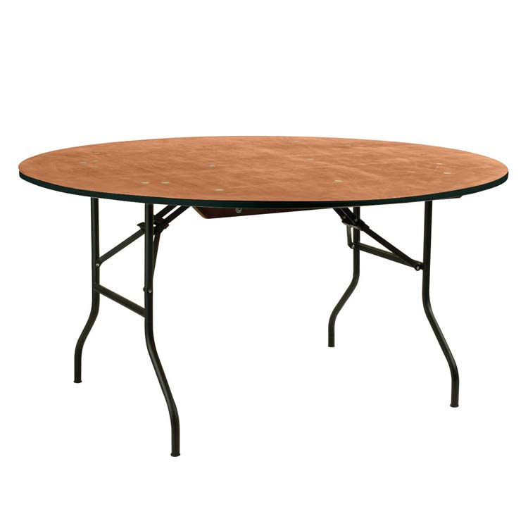 Table de collectivit ronde pliante 10 places 180 cm doublet - Table de reception pliante occasion ...