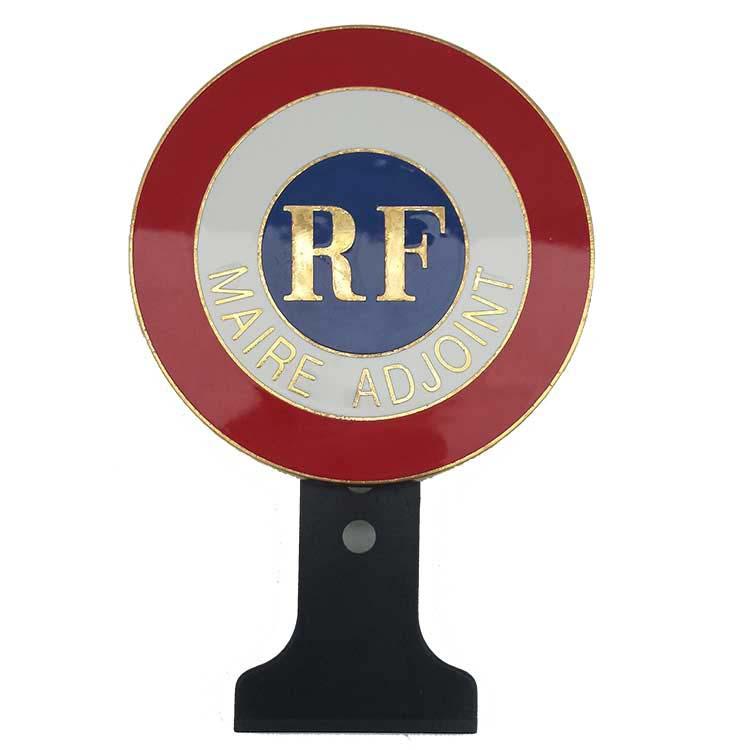 Cocarde métallique Maire Adjoint + RF