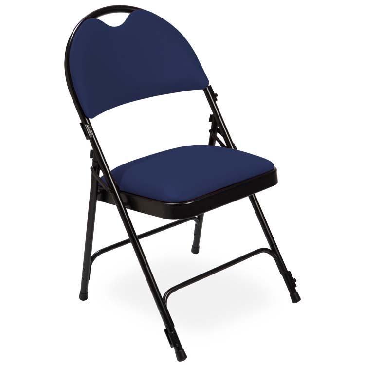 Chaise série 2600 vinyle bleu foncé M2