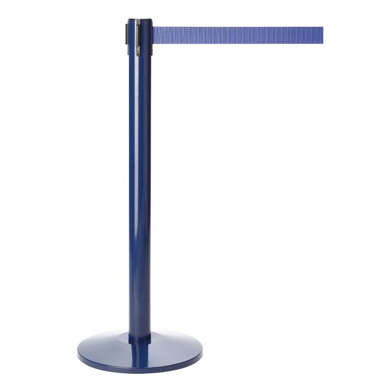 Absperrpfosten MKIII blau mit Gurtband
