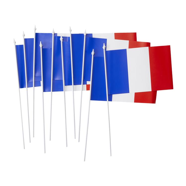 Drapeaux Français de supporter en lot de 10