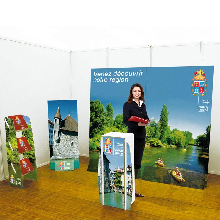 Stand EcoDesign en carton recyclé pour foires et expositions