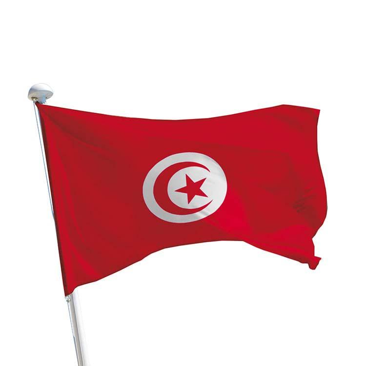 Drapeau Tunisie pour mât