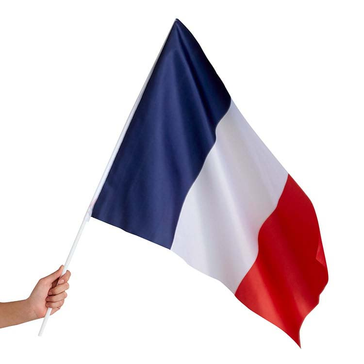 Drapeau de la France en tissu 50 x70