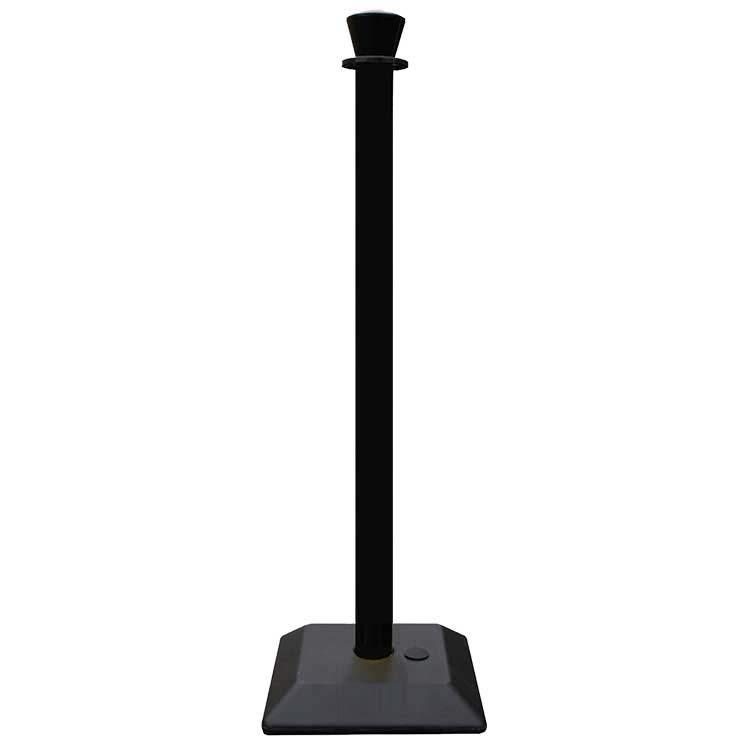 Poteau de balisage en PVC noir