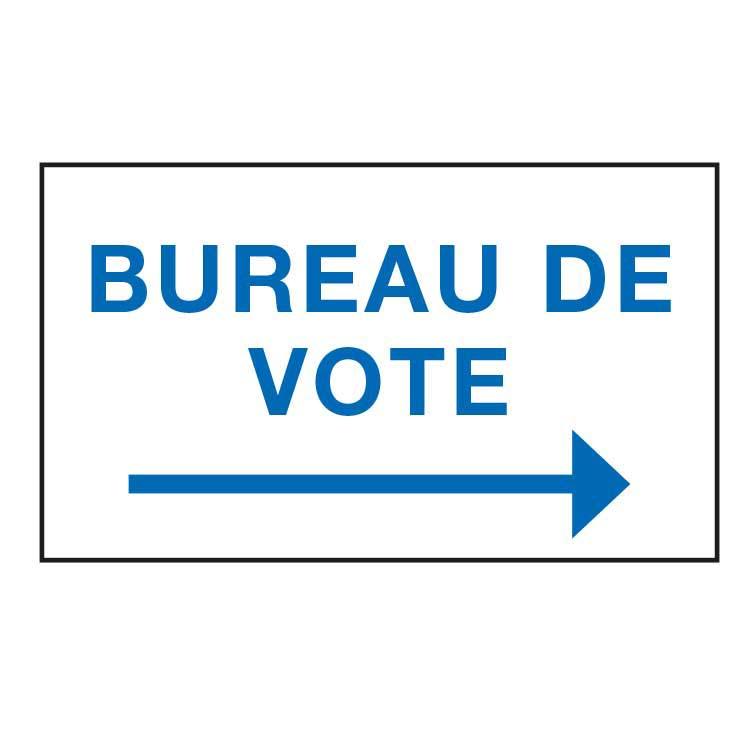 vente panneaux de signalisation pour bureaux de vote lections doublet. Black Bedroom Furniture Sets. Home Design Ideas