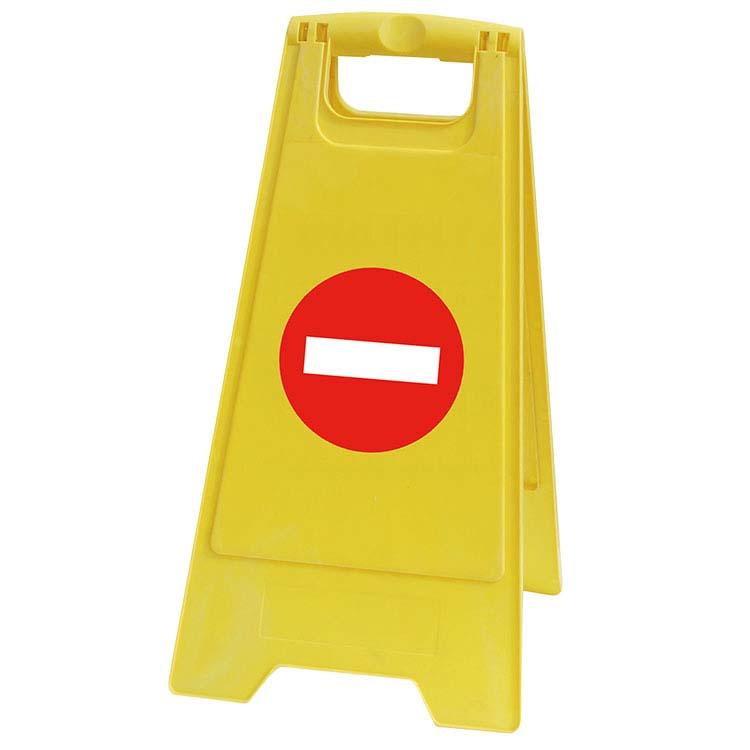 Chevalet de signalisation - entrée interdite