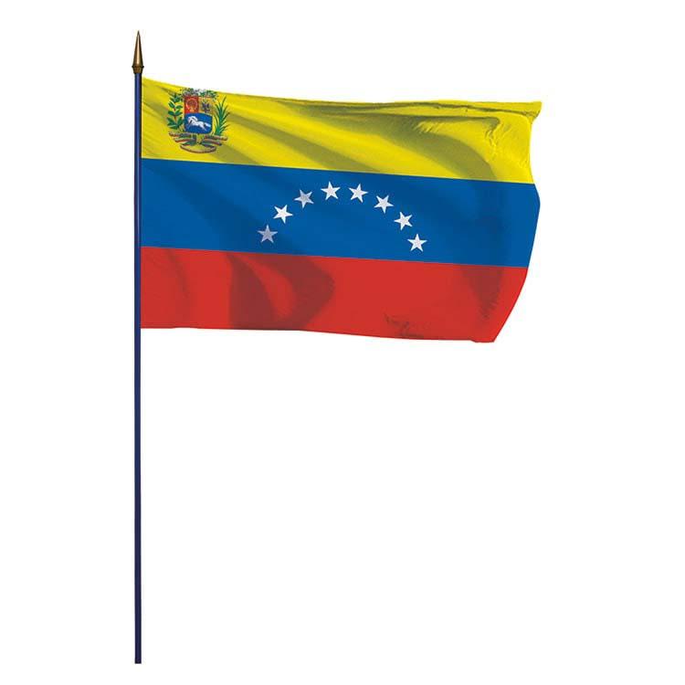 Drapeau Venezuela sur hampe