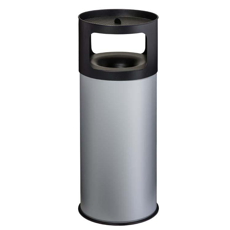 Cendrier Corbeille Autoextint gris - 90 litres