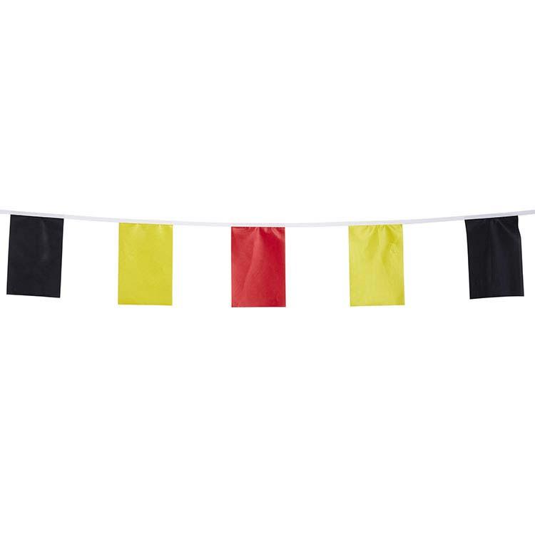 guirlande tissu fanions noir jaune rouge