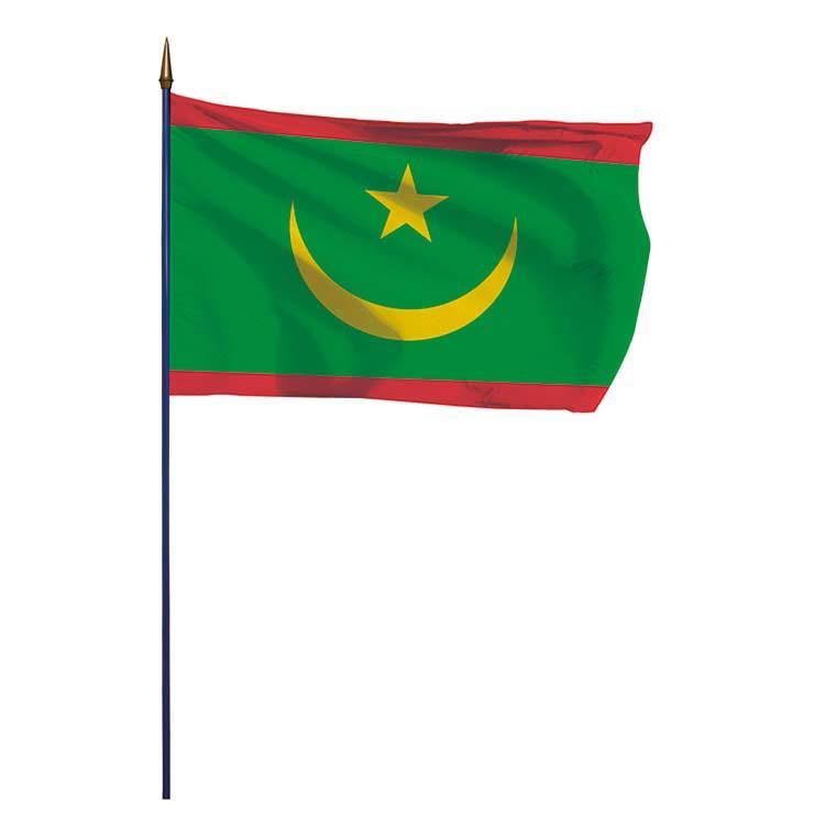 Drapeau Mauritanie sur hampe