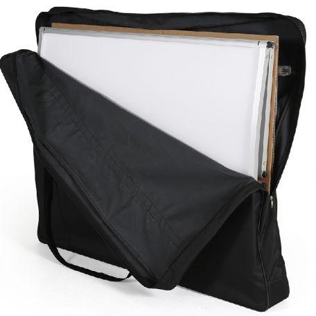 Werbetheke mit Spuckschutz Tasche