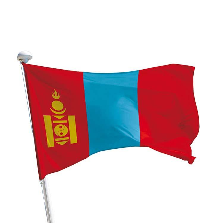 Drapeau Mongolie pour mât