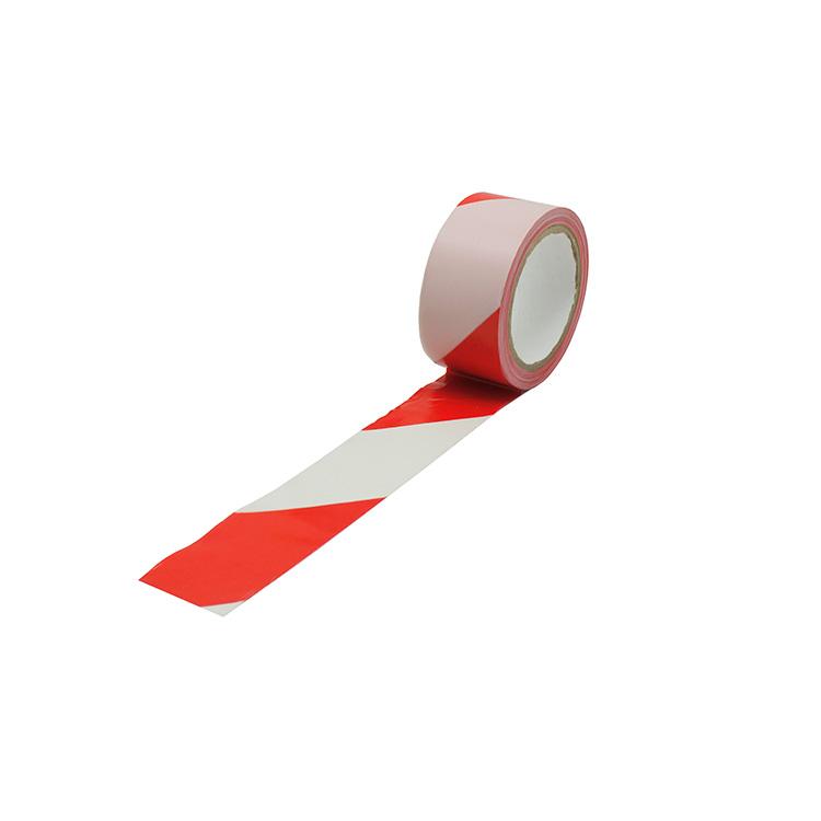 Ruban adhésif de marquage au sol rouge/blanc