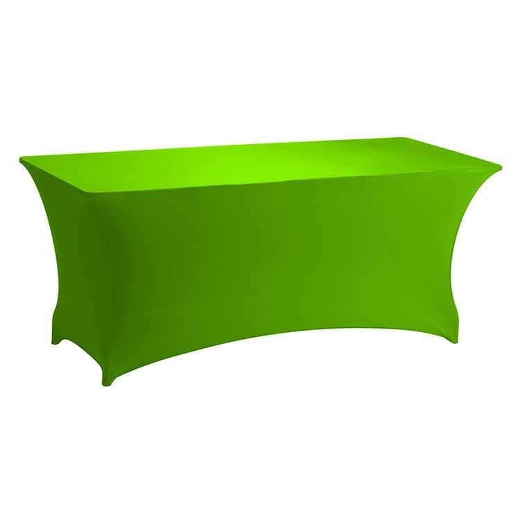 Housse stretch vert pour table pliante rect. 183 x 76 cm