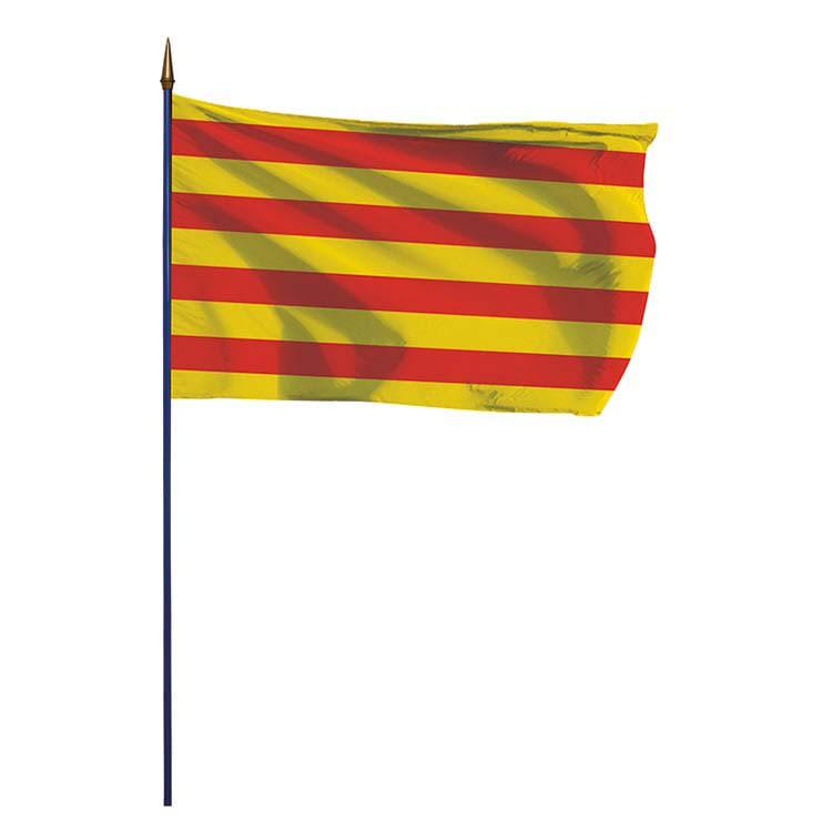 Pavillon province Roussillon sur hampe