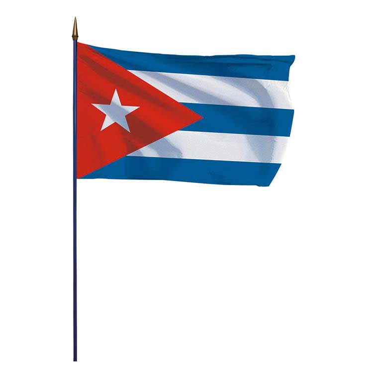 Drapeau Cuba sur hampe