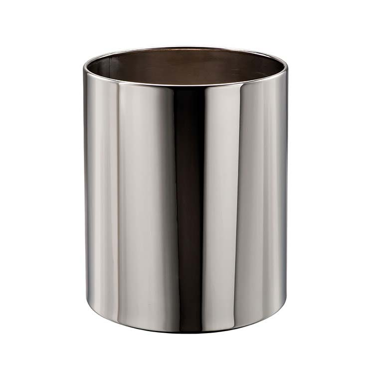 Corbeille à papier Tuby Inox brillant - 11 litres