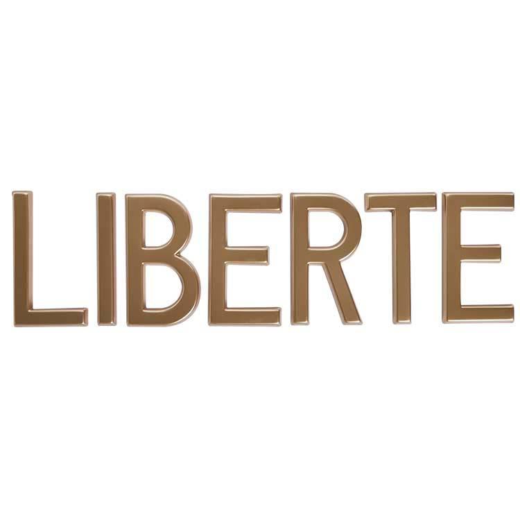 Lettre Baton Majuscule dorée de 20 cm - Mot Liberté