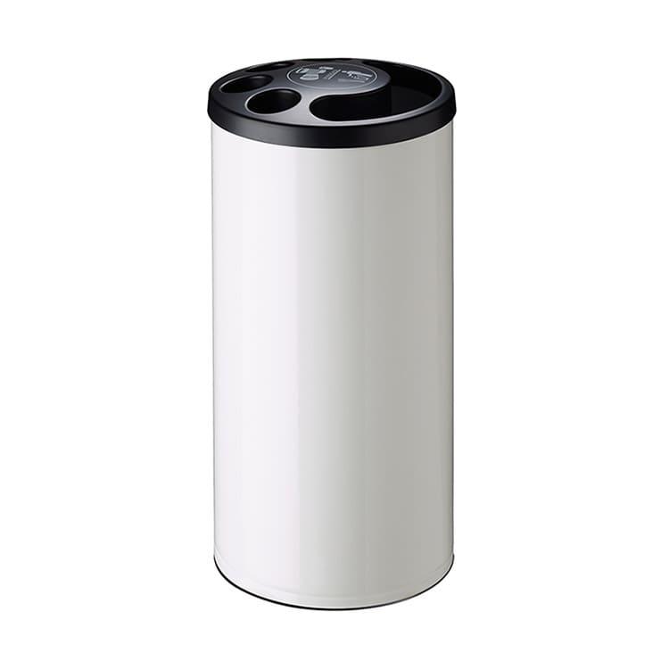 Collecteur de gobelets plastique blanc - 800 gobelets + 25 L