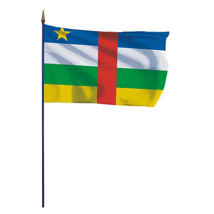 Drapeau Centrafrique sur hampe