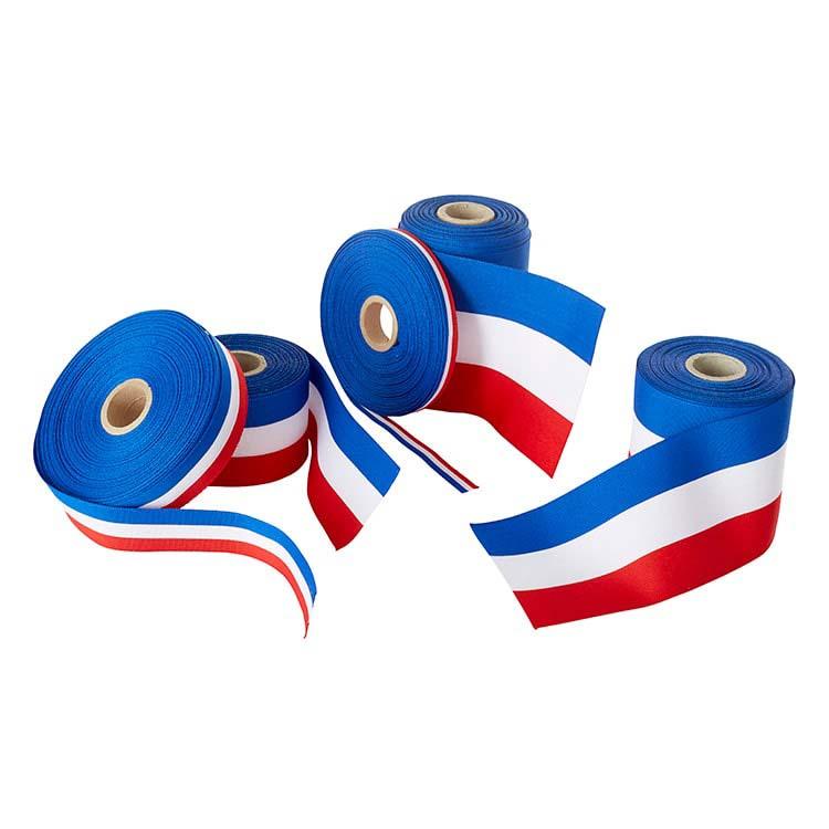 Ruban d'inauguration tricolore français