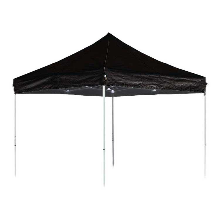 Tente pliante Eissaure 3 x 3 m ouverte - toit noir