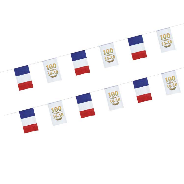 Guirlande tissu France Centenaire 14/18