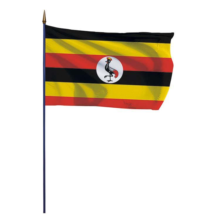 Drapeau Ouganda sur hampe
