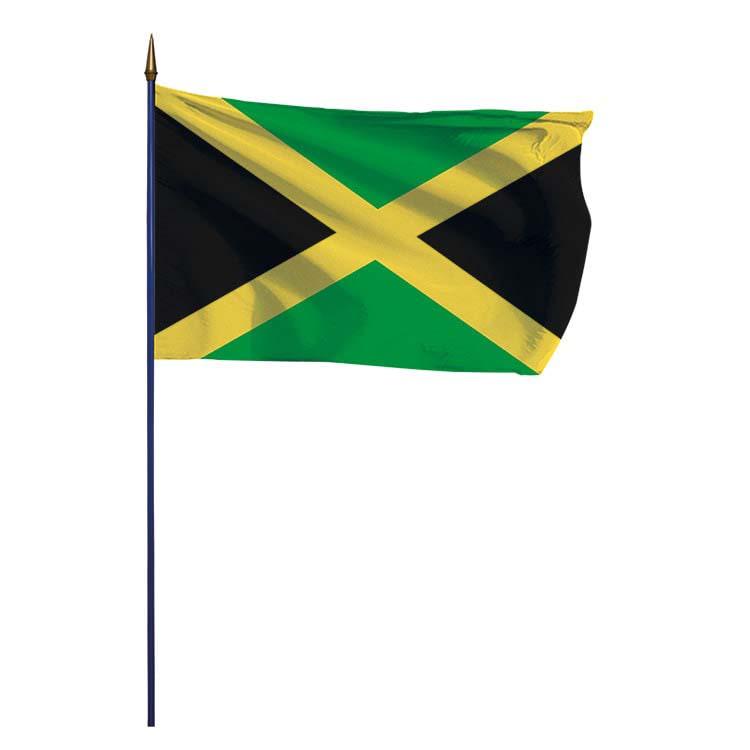 Drapeau Jamaïque sur hampe