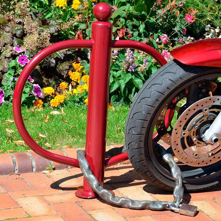 Rack à moto cadenas