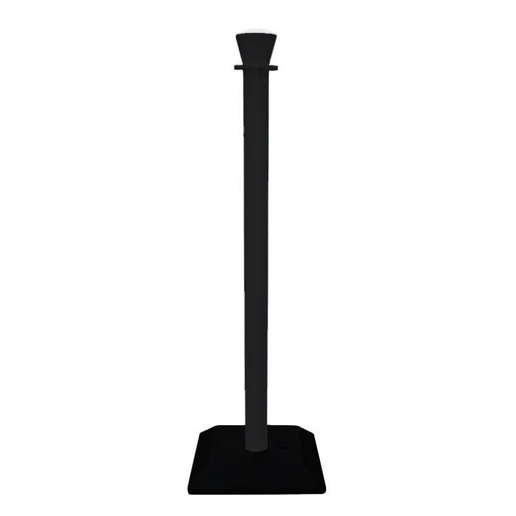 Poteau PVC Budget lesté noir