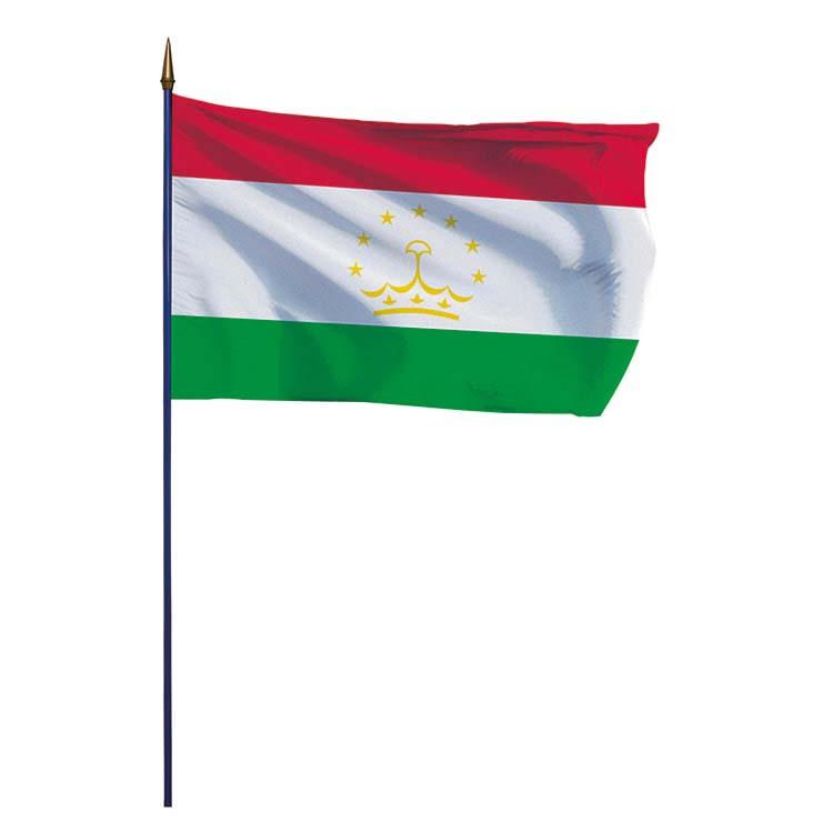 Drapeau Tadjikistan sur hampe