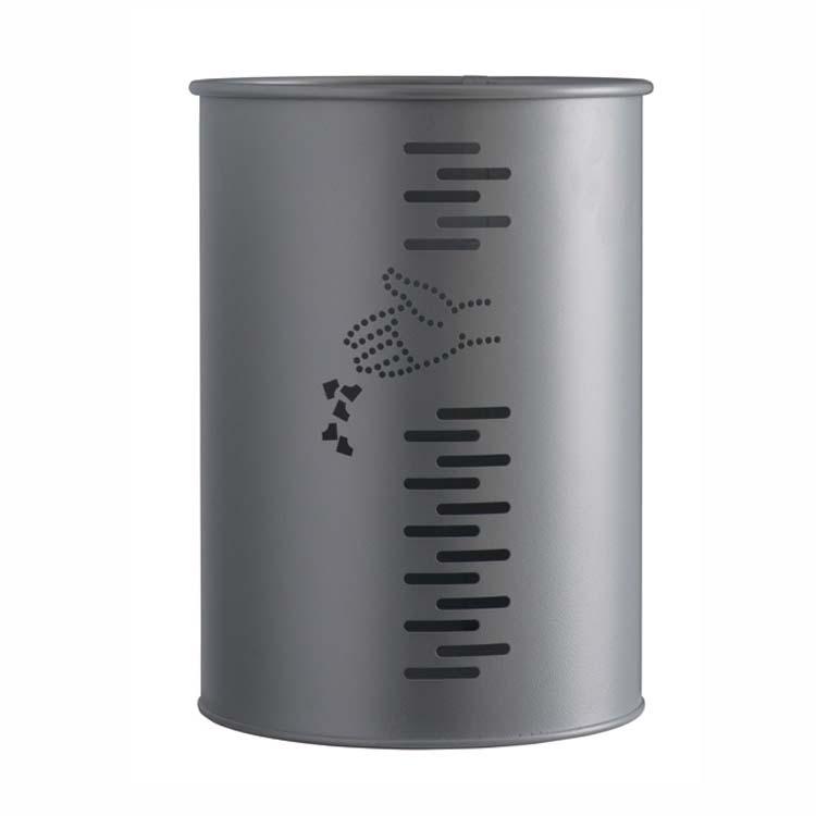 Corbeille Urbane Cylindrique 22 litres gris
