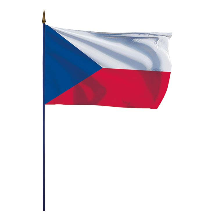 Drapeau République Tchèque sur hampe