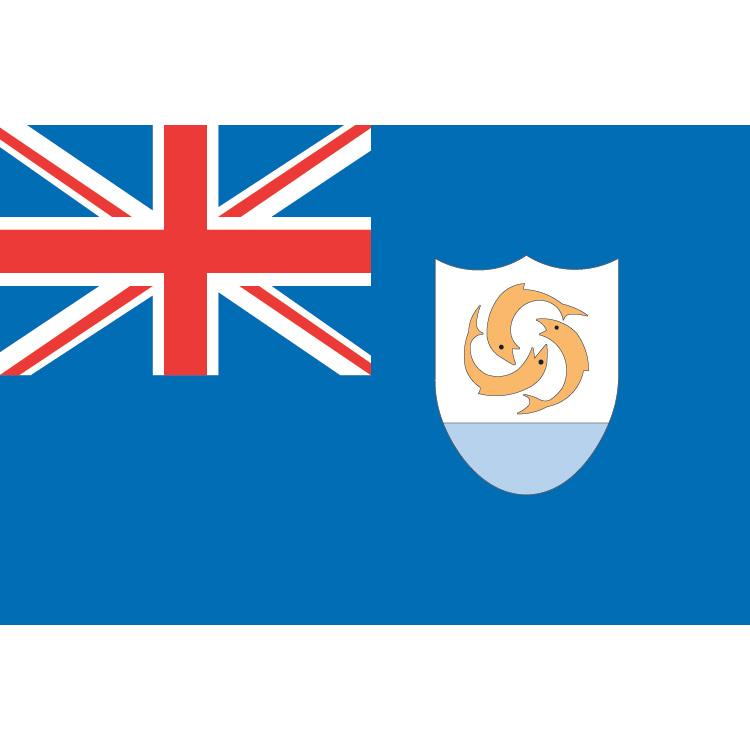 Drapeau Anguilla sur hampe