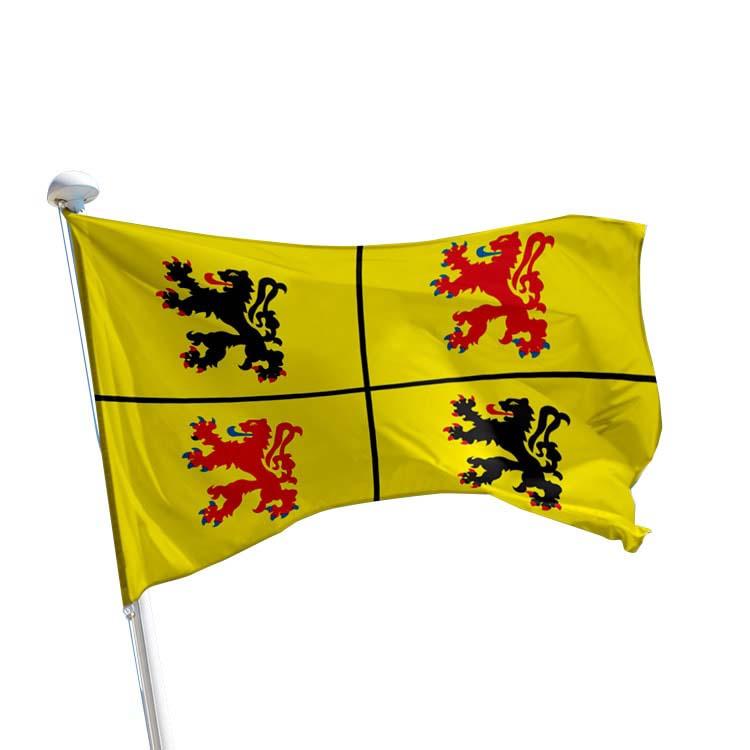 Drapeau Hainaut pour mât (BE)