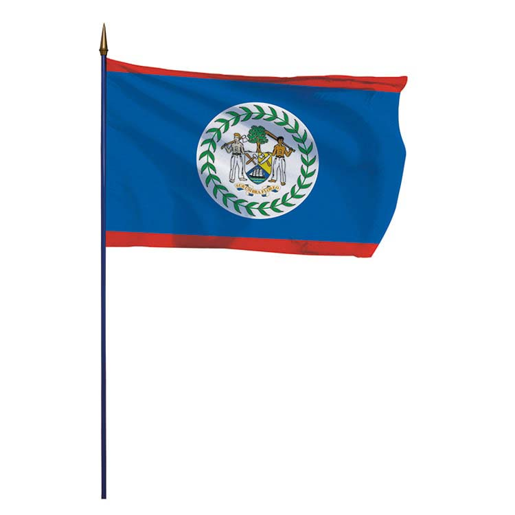 Drapeau Belize sur hampe