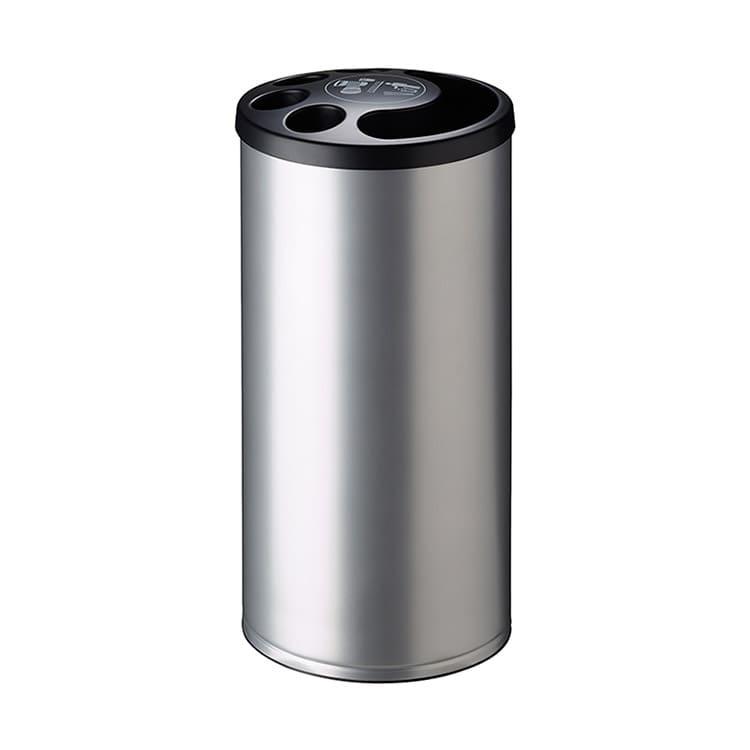 Collecteur de gobelets plastique gris métal - 800 gobelets + 25 L