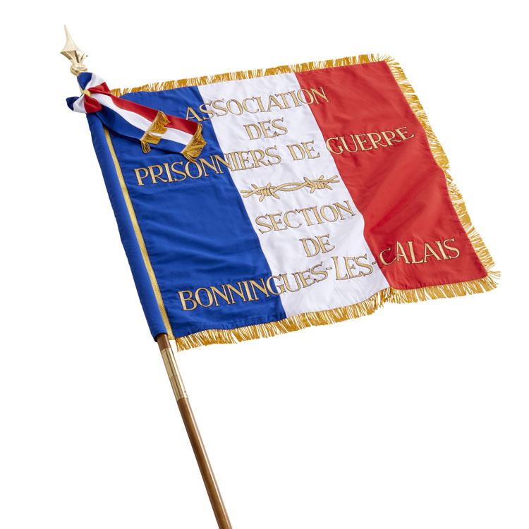 Drapeau de défilé français brodé