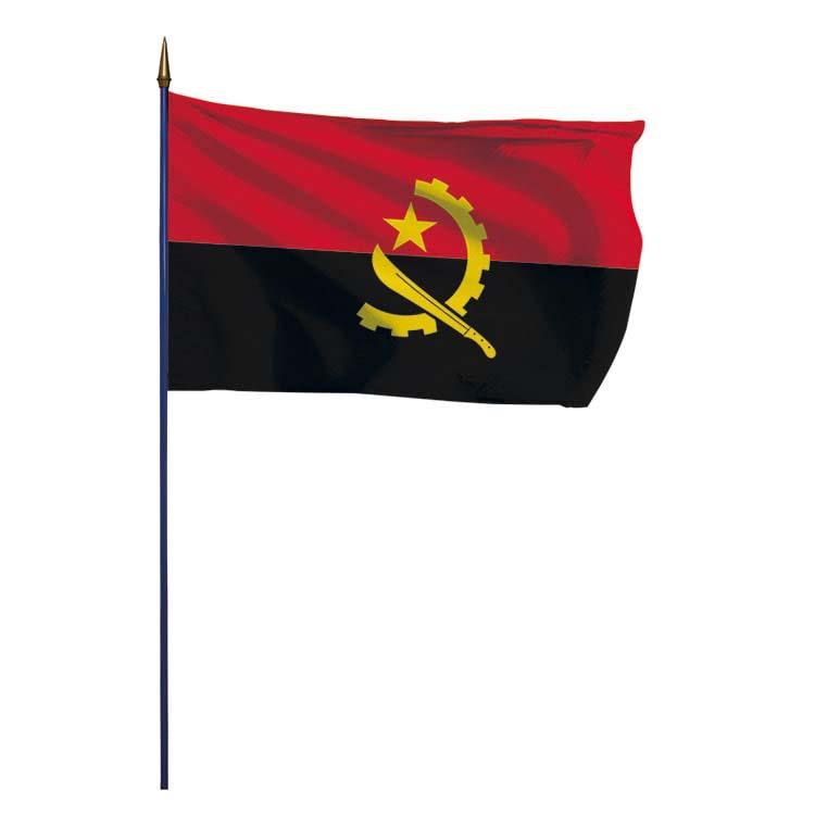 Drapeau Angola sur hampe