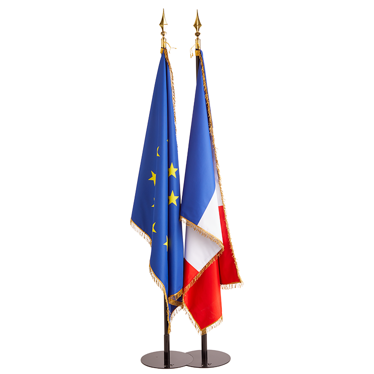 Drapeau France et Europe de Prestige