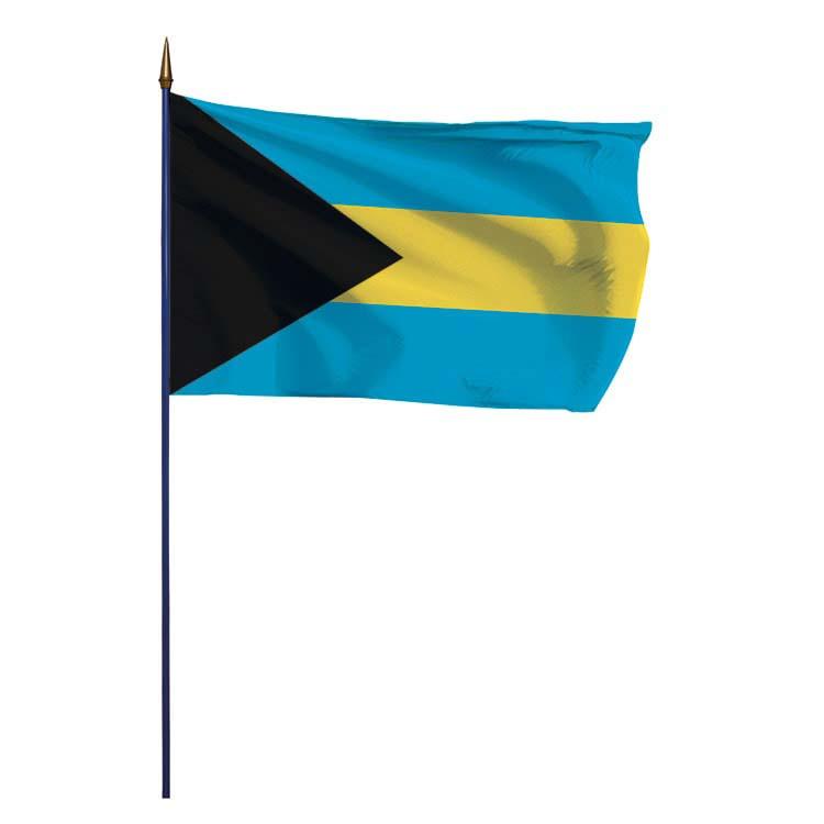 Drapeau Bahamas sur hampe