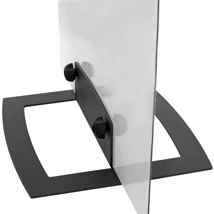 Base pour panneautique en métal anthracite