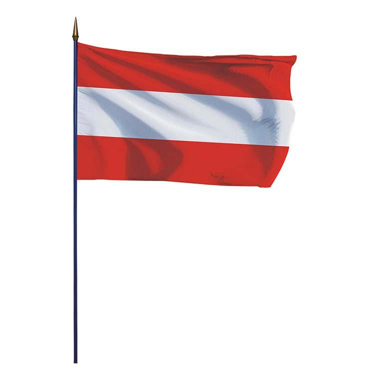 Drapeau Autriche sur hampe