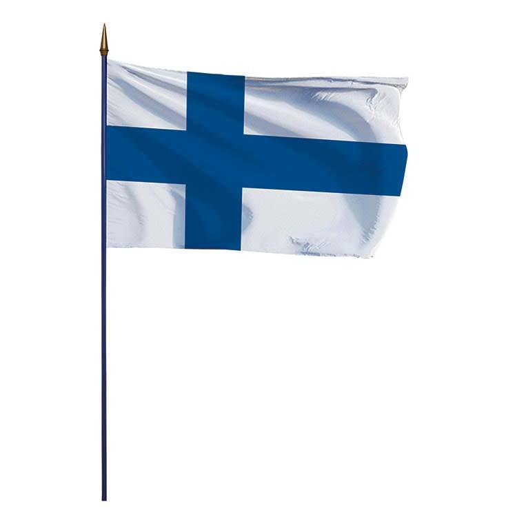 Drapeau Finlande sur hampe