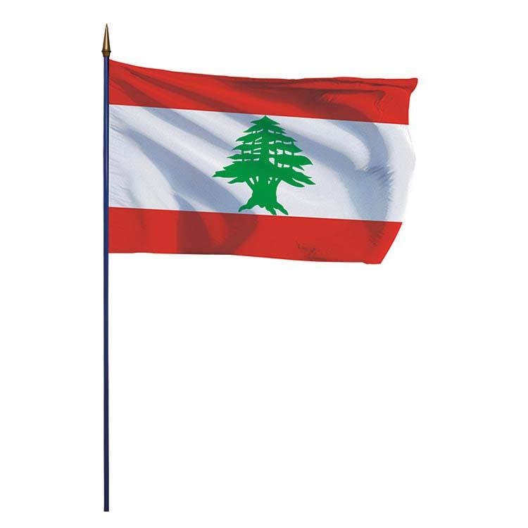Drapeau Liban sur hampe