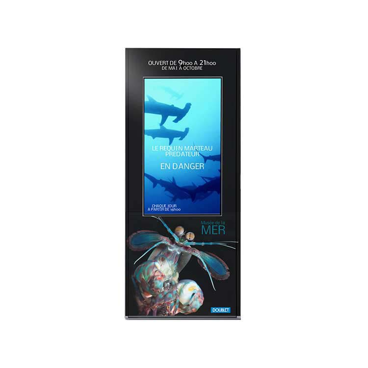 Totem extérieur DOOH 1 - Thème de la mer
